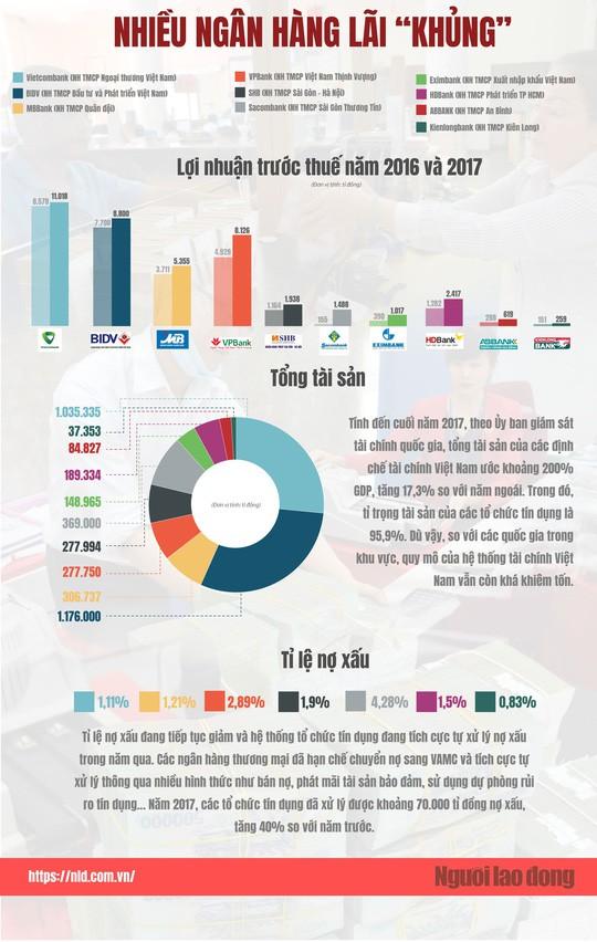 (Infographic) Sức khỏe của hệ thống ngân hàng giờ ra sao? - Ảnh 1.