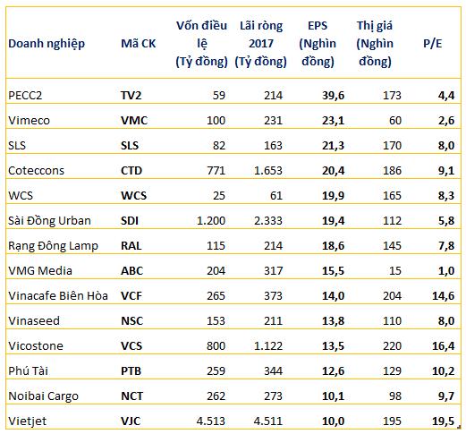 Nhiều cái tên bất ngờ trong nhóm những doanh nghiệp có EPS cao nhất thị trường - Ảnh 1.