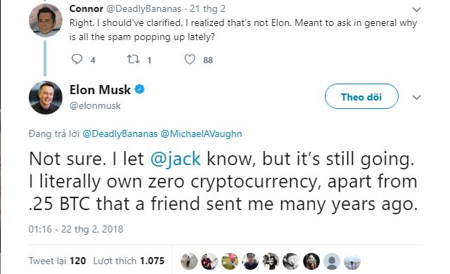 Tỷ phú Elon Musk đang sở hữu bao nhiêu bitcoin? - Ảnh 1.
