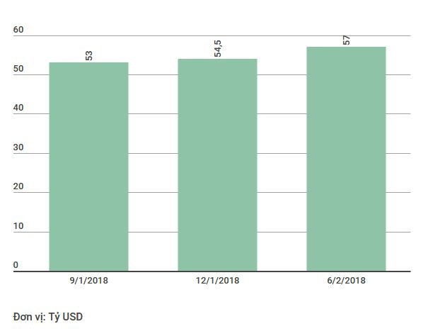 Thống đốc: Dự trữ ngoại hối đạt mức mới lên trên 57 tỷ USD  - Ảnh 1.