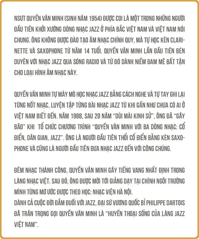 """Saxophone Quyền Văn Minh: Từ cậu thiếu niên học Jazz bằng băng cassette đến """"Huyền thoại sống Jazz Việt Nam"""" - Ảnh 1."""