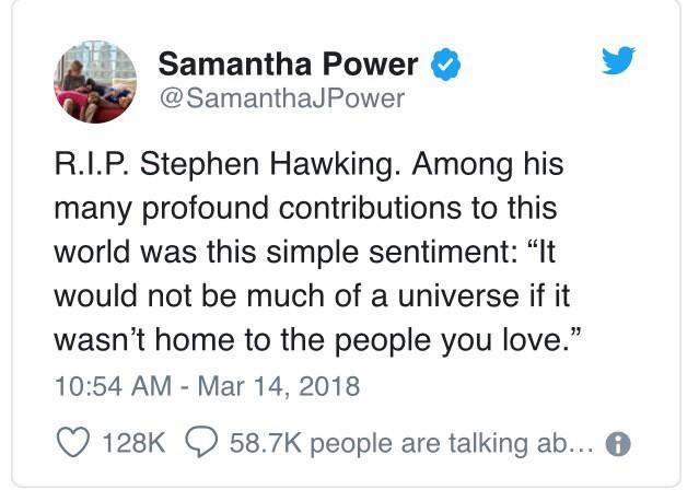 """Đây là cách """"cả thế giới"""" thể hiện niềm thương tiếc trước sự ra đi của nhà bác học vĩ đại Stephen Hawking - Ảnh 8."""