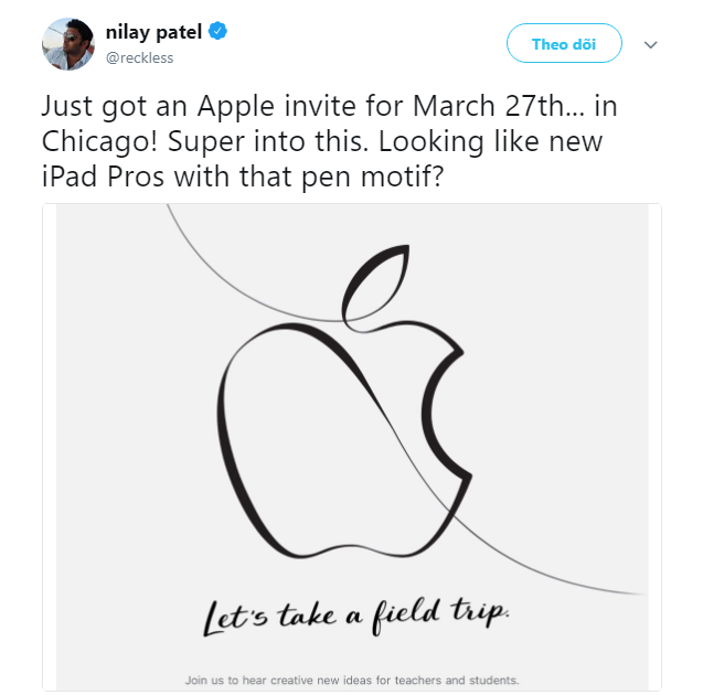 Apple đăng thiệp mời đầy ẩn ý về iPad mới, chơi cả thư pháp để vẽ logo quả táo - Ảnh 1.