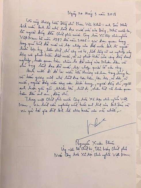 Những lời tiếc thương cố Thủ tướng Phan Văn Khải của lãnh đạo Đảng, Nhà nước trong sổ tang - Ảnh 3.