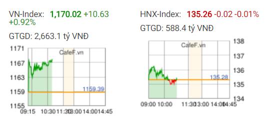 VnIndex mất mốc lịch sử 1.170 điểm trong những phút cuối phiên, bất chấp nỗ lực bứt phá từ VIC, GAS, BVH, ROS… - Ảnh 1.