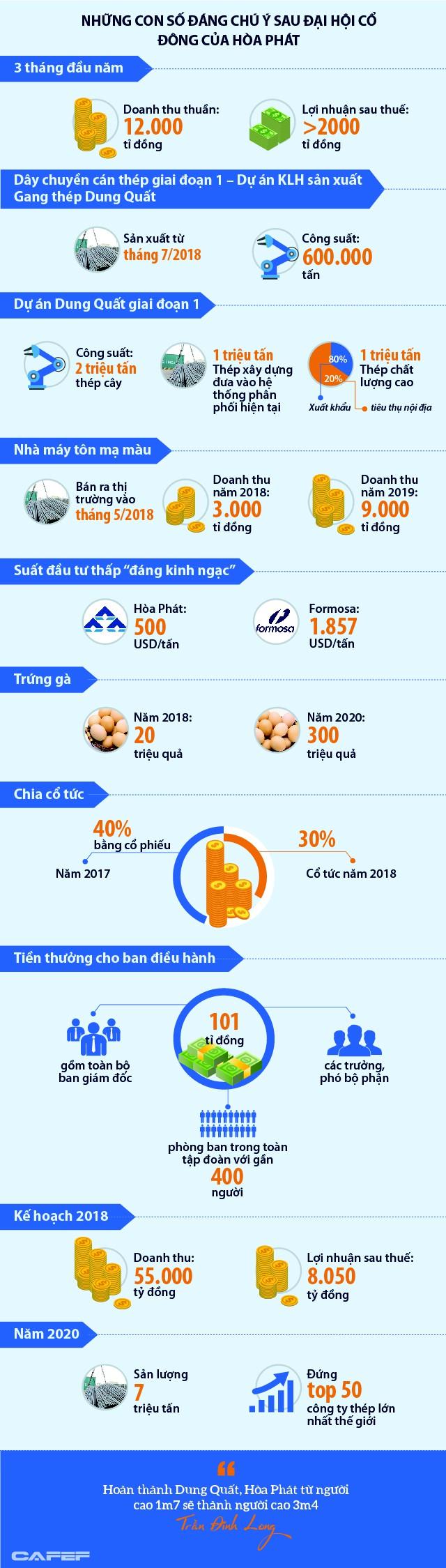 Những con số đáng chú ý sau Đại hội cổ đông  2018 của Hòa Phát - Ảnh 1.
