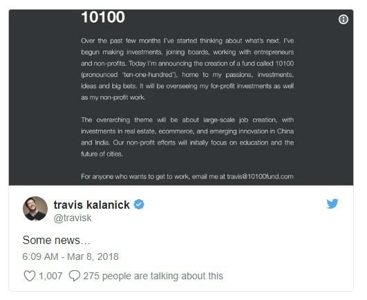 Tỷ phú Travis Kalanick tìm được việc mới sau khi bị 'đá' khỏi Uber - Ảnh 1.