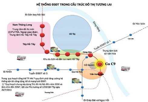 Hà Nội lấy ý kiến người dân ga tàu điện ngầm bên Hồ Gươm - Ảnh 1.