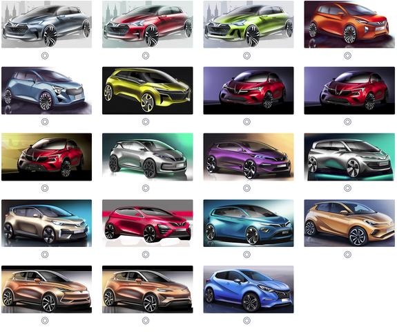 Vinfast tiếp tục tung ra 36 mẫu thiết kế xe ô tô điện để trưng cầu ý kiến - Ảnh 2.