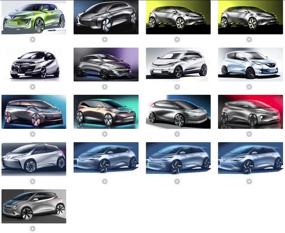 Vinfast tiếp tục tung ra 36 mẫu thiết kế xe ô tô điện để trưng cầu ý kiến - Ảnh 1.