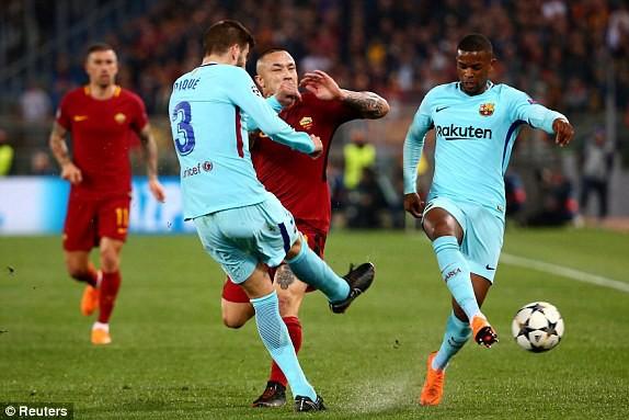 Chấn động: Barcelona bị loại đầy cay đắng sau cuộc lội ngược dòng không tưởng của AS Roma - Ảnh 1.