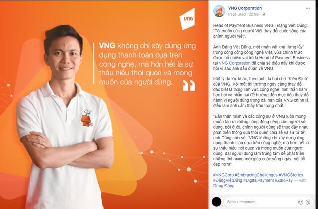 Cựu Giám đốc Uber VN Dũng Đặng về lãnh đạo mảng thanh toán của VNG - Ảnh 1.