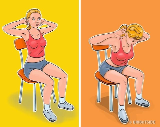 7 động tác giúp loại bỏ mỡ bụng, thon gọn vòng 2 dành cho phụ nữ ngồi nhiều: Đơn giản, ai cũng có thể thực hiện ngay tại văn phòng - Ảnh 3.
