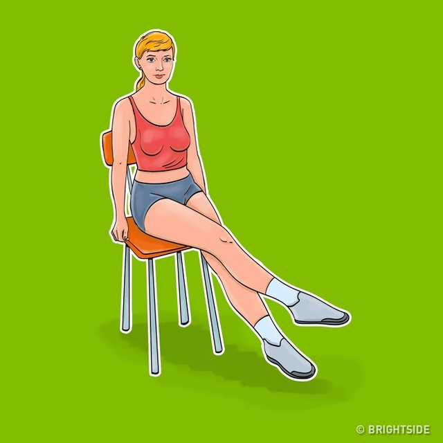 7 động tác giúp loại bỏ mỡ bụng, thon gọn vòng 2 dành cho phụ nữ ngồi nhiều: Đơn giản, ai cũng có thể thực hiện ngay tại văn phòng - Ảnh 7.