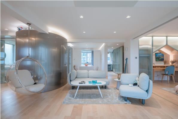 Thiết kế phá cách, ấn tượng của căn hộ cao tầng hơn 100m2 cho gia đình có con nhỏ - Ảnh 4.