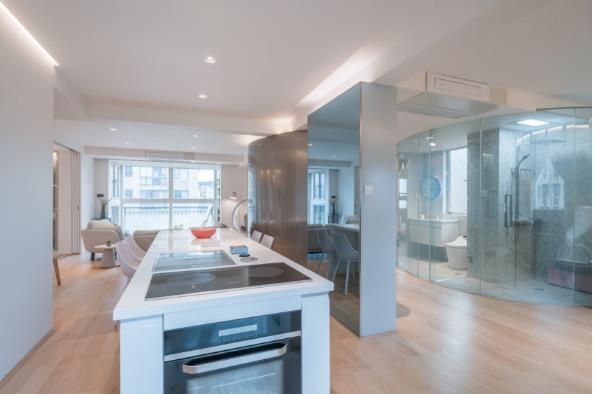 Thiết kế phá cách, ấn tượng của căn hộ cao tầng hơn 100m2 cho gia đình có con nhỏ - Ảnh 10.