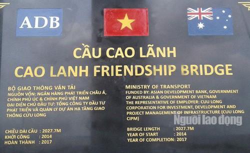 Chờ Chính phủ Việt Nam và Úc thống nhất thời gian khánh thành cầu Cao Lãnh - Ảnh 3.