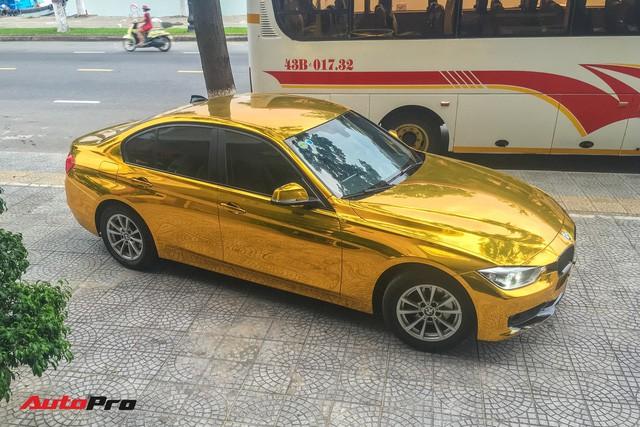 """Kỳ công """"dát vàng"""" phong cách dân chơi UAE cho chiếc BMW của chủ khách sạn tại Đà Nẵng - Ảnh 3."""