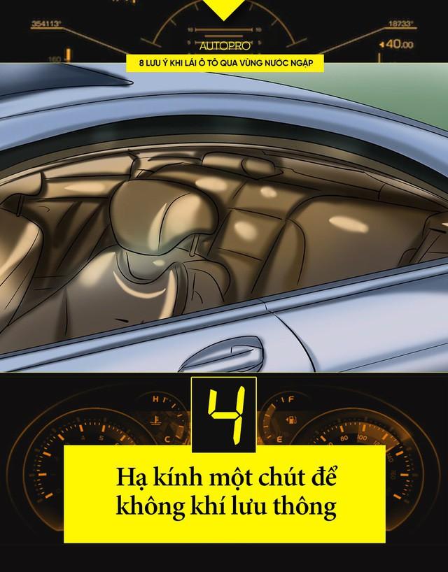 8 lưu ý khi lái ô tô qua vùng nước ngập - Ảnh 4.