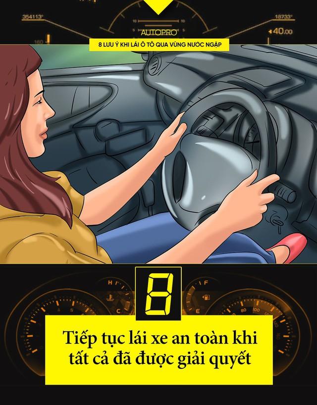 8 lưu ý khi lái ô tô qua vùng nước ngập - Ảnh 8.