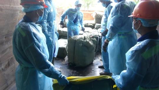 TP HCM tiêu huỷ gần 14 tấn vú heo thối - Ảnh 1.