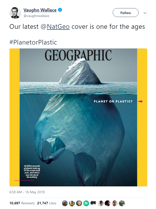 Bìa tạp chí với chủ đề rác thải nhựa của Nat Geo quá đỗi tuyệt vời, khiến Internet không ngừng nhắc đến nó - Ảnh 2.