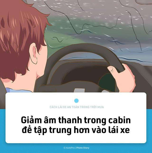[Photo Story] Lái xe an toàn hơn trong mưa với 15 nguyên tắc sau đây - Ảnh 6.