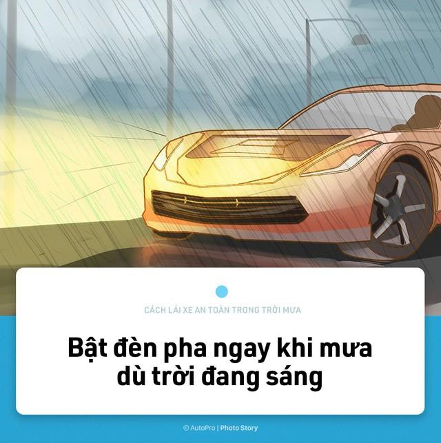 [Photo Story] Lái xe an toàn hơn trong mưa với 15 nguyên tắc sau đây - Ảnh 7.