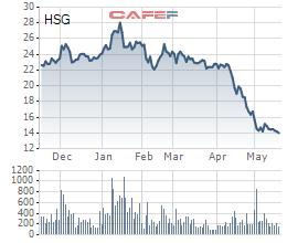 HSG xuống đáy 2 năm, công ty của vợ ông Lê Phước Vũ vẫn quyết bán sạch 19 triệu cổ phiếu...