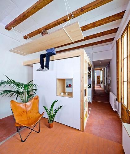 Sử dụng bên trong xe sáng tạo trong căn hộ cao tầng 70 m2 - Ảnh 2.