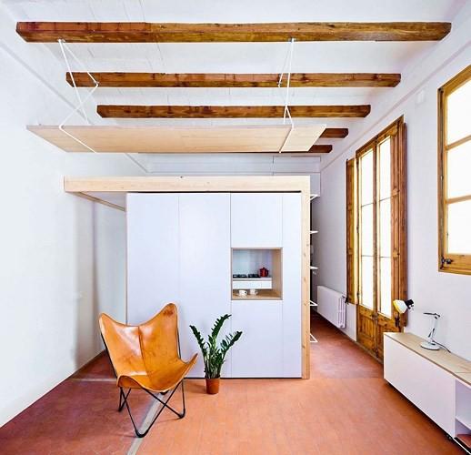 Sử dụng bên trong xe sáng tạo trong căn hộ cao tầng 70 m2 - Ảnh 4.