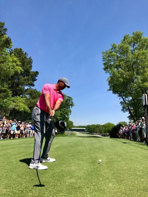 Khán giả vây kín sân Quail Hollow xem Tiger Woods đánh tập - Ảnh 2.