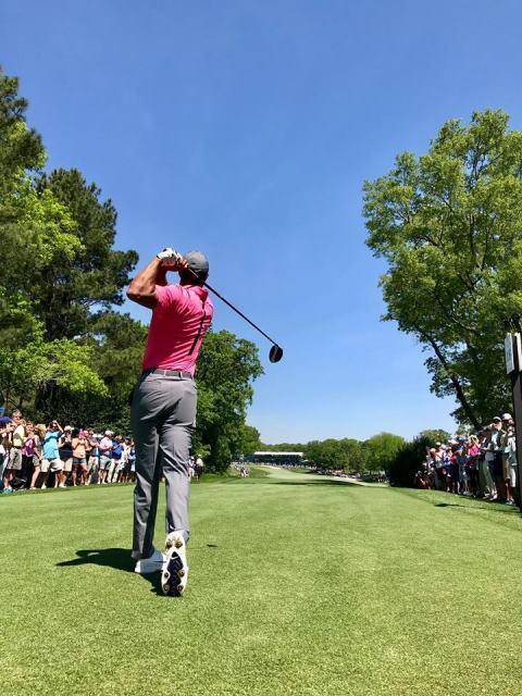 Khán giả vây kín sân Quail Hollow xem Tiger Woods đánh tập - Ảnh 8.