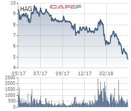 Cổ phiếu HAG liên tục dò đáy, bầu Đức đăng ký mua 20 triệu cổ phiếu - Ảnh 1.