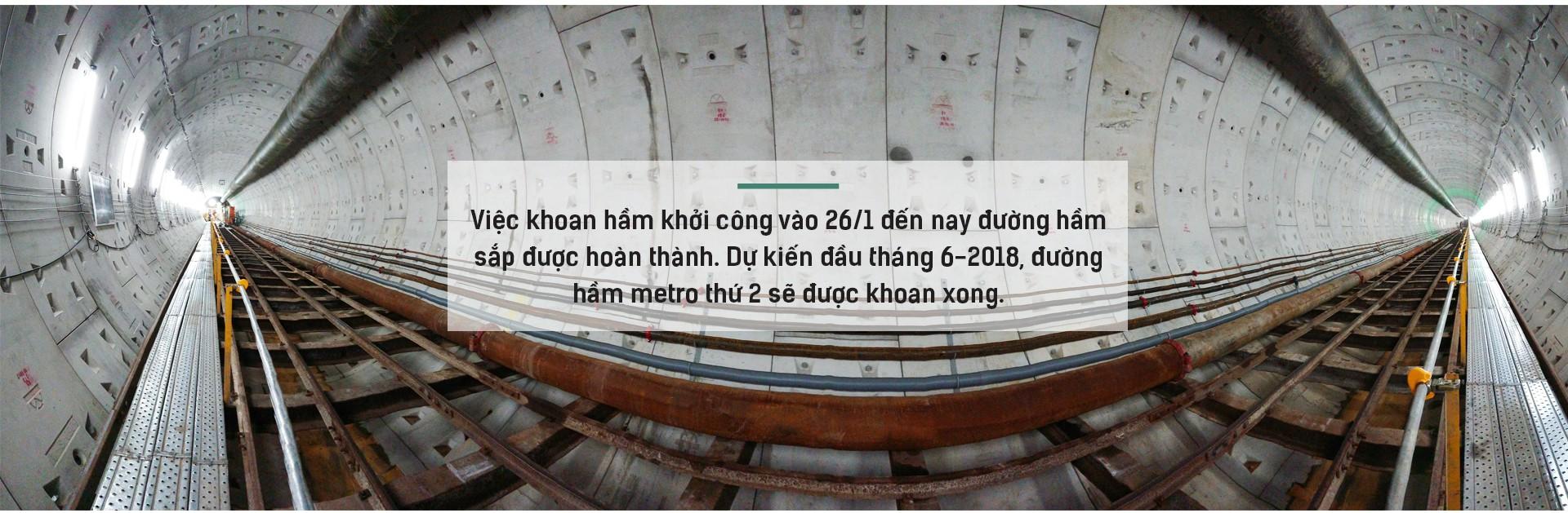 Ngắm đường hầm tàu điện đầu tiên tại Việt Nam sâu 17m dưới lòng đất Sài Gòn - Ảnh 7.