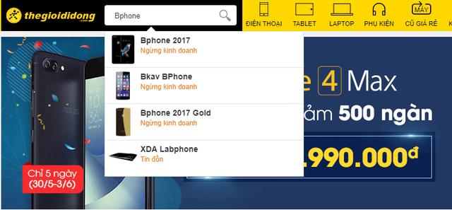 Thế Giới Di Động cũng đã phải ngừng bán Bphone 2017 dù mới chỉ hợp tác được chưa đến 10 tháng - Ảnh 2.