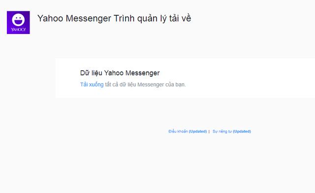 Hướng dẫn cách tải toàn bộ dữ liệu Yahoo Messenger về làm kỉ niệm trước khi bị đóng cửa hoàn toàn - Ảnh 2.