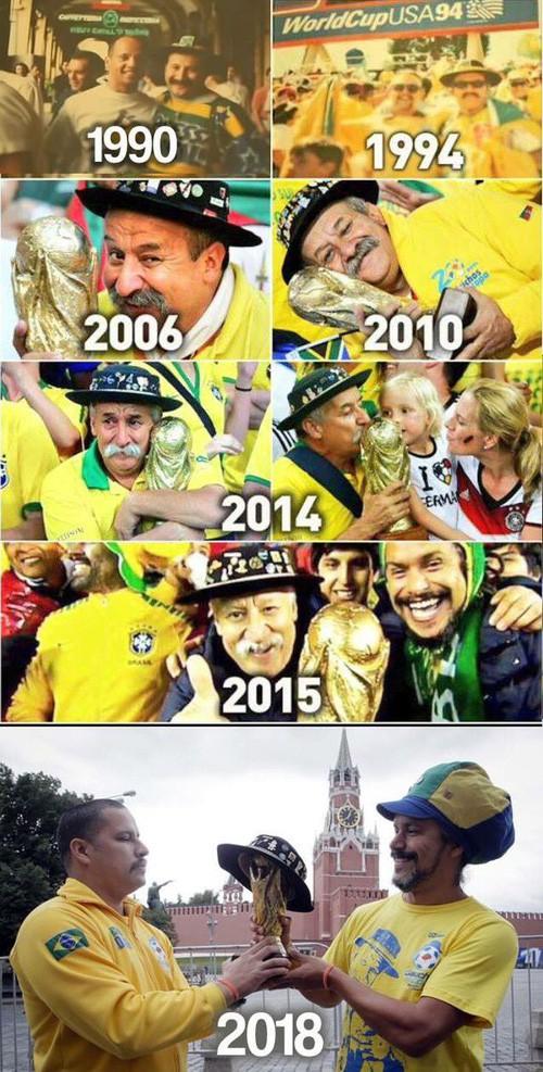Câu chuyện cảm động của cụ ông nổi tiếng 25 năm cổ vũ World Cup, nay được viết tiếp bởi con trai - Ảnh 2.
