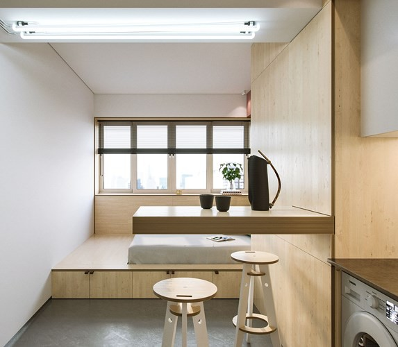 Căn hộ 23 m2 kiến trúc theo phong một vàih tối giản - Ảnh 2.