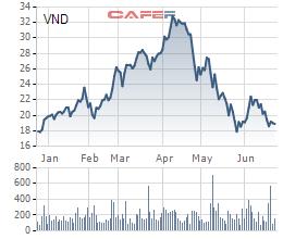 Lãnh đạo quăng phao vẫn không cứu được đà giảm giá cổ phiếu VnDirect - Ảnh 1.