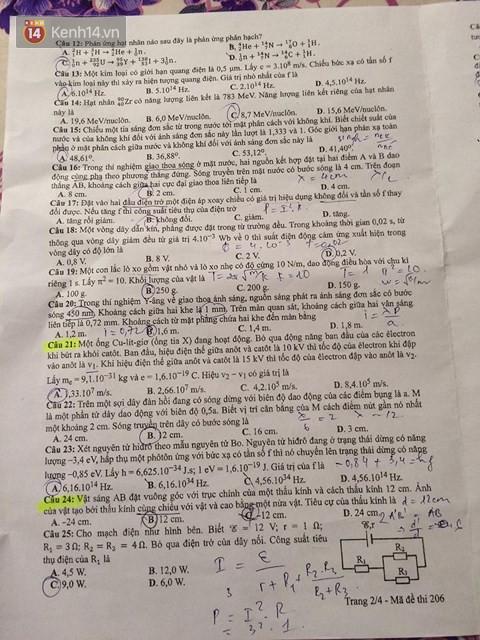 Đề thi THPT QG môn Vật Lý: Đề rất khó, chỉ có 10 phút nghỉ giữa các môn, thí sinh không xoay xở kịp - Ảnh 2.