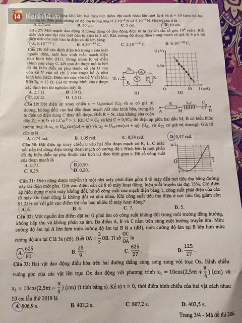 Đề thi THPT QG môn Vật Lý: Đề rất khó, chỉ có 10 phút nghỉ giữa các môn, thí sinh không xoay xở kịp - Ảnh 3.
