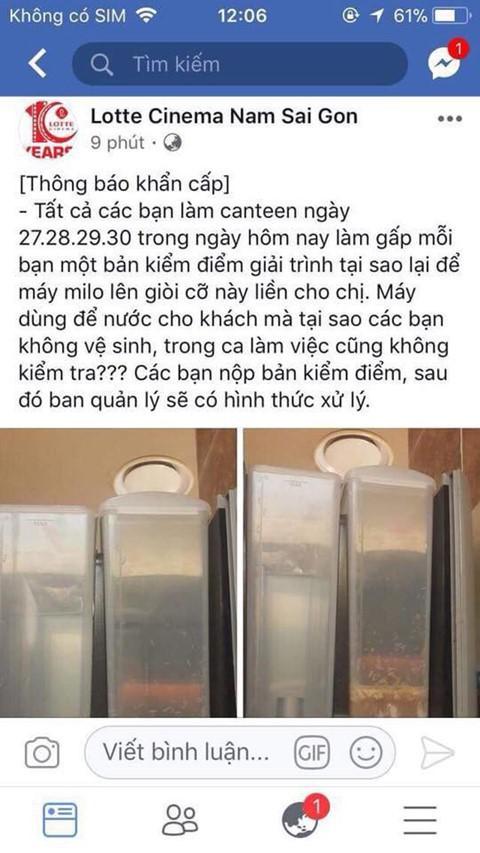 Lotte Cinema bị phạt 26,5 triệu đồng vụ máy pha sữa có giòi - Ảnh 1.