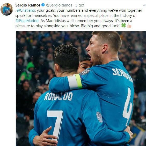 Ramos, Kroos, Bale gửi thông điệp từ biệt Ronaldo - Ảnh 2.