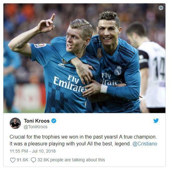 Ramos, Kroos, Bale gửi thông điệp từ biệt Ronaldo - Ảnh 3.
