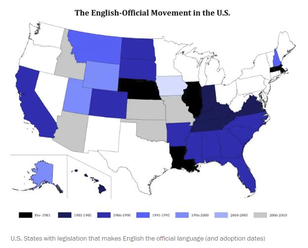 Có tới 96% dân số thành thạo tiếng Anh tại sao đây vẫn không phải ngôn ngữ chính thức của Mỹ? - Ảnh 1.