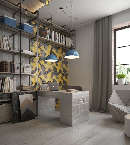 Ý tưởng trang trí phòng làm việc ở nhà hiện đại, phong cách - Ảnh 4.