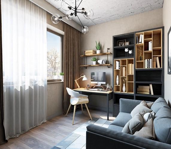 Ý tưởng trang trí phòng làm việc ở nhà hiện đại, phong cách - Ảnh 10.