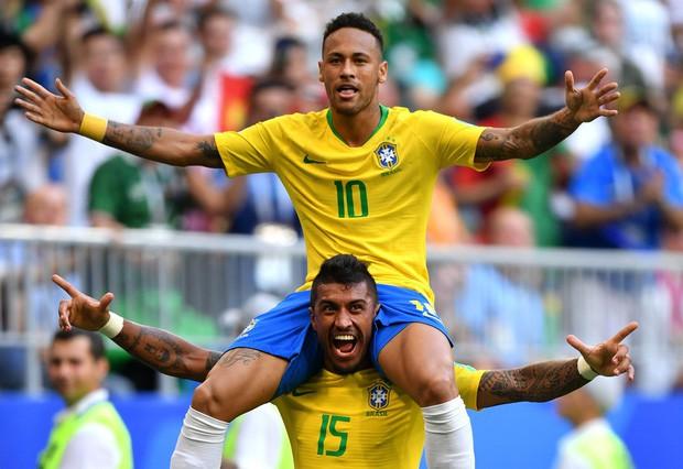 """Brazil xác lập kỷ lục vô tiền khoáng hậu trong lịch sử World Cup sau màn """"đè bẹp"""" Mexico - Ảnh 1."""