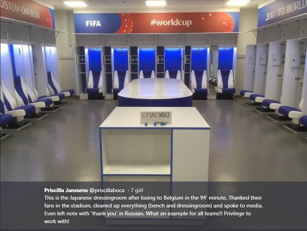 Đây là phòng thay đồ của đội tuyển Nhật Bản sau trận thua Bỉ, sạch sẽ tinh tươm như chưa từng được sử dụng - Ảnh 1.